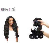 Quality Three Brazilian Body Wave Unprocessed Hair / No Shedding Unprocessed Curly Human Hair for sale
