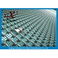Quality Football Field PVC Coated Chain Link Mesh Fence With Diameter 0.4mm for sale
