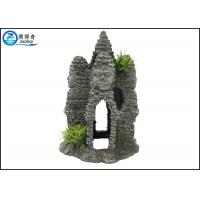 Quality Temple Castle Resin Decorative Rockery Aquarium Resin Ornaments Landscaping Crafts for sale