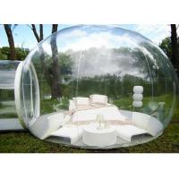 Quality Outdoor Single Tunnel Inflatable Bubble Tent ,  3.8M*2.6M Transparent Bubble Tent  for sale
