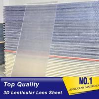 Quality 20 LPI lenticular sheet with flip lenticular effect for large size lenticular advertisment indoor and outdoor Printing for sale