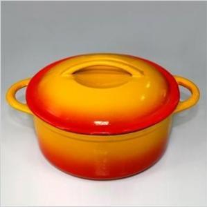 China Round Enameled Cast Iron Casserole on sale