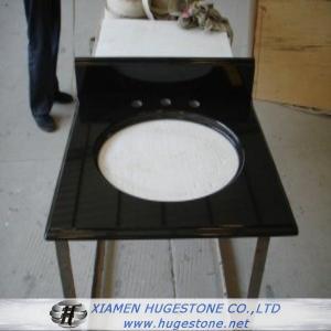 Quality Absolute Black Sink Countertop, Black Granite Sink Countertop for sale