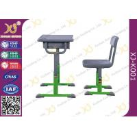 Quality Hollow Polethylene Top Desk And Chair Set For Students , 5 Years Warranty for sale