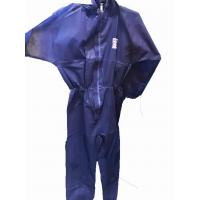 Buy cheap Disposable dark blue micro porous coverall with hood,S-XXL,against dust and oil,Tyvek function from wholesalers
