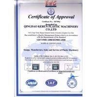 Qingdao Kerun Plastic Machinery Co., Ltd. Certifications