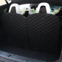 Quality Topfit Front and Rear Boot Mat+3rd Row Back Seat Protector Cover for Tesla Model X 6 seat for sale
