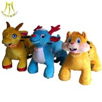 Quality Hansel    plush toys stuffed animals on wheels plush animal electric scooter Guangzhou for sale