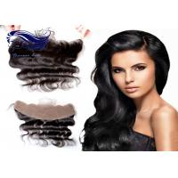 China Front Side Curly Human Hair Wigs / Remy Lace Front Weave Closure Medium Brown on sale