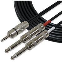 """Buy Full Metal 1/8"""" TRS Stereo Audio Link Cable 3.5mm to 6mm Cords for iPhone / iPod at wholesale prices"""