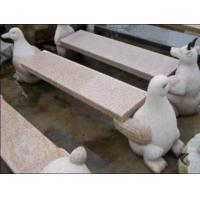 Quality Penguin  Carving Stone Bench, Exquisite Granite Stone Sculpture for sale