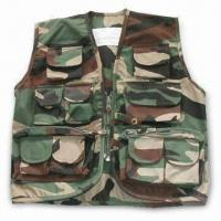 Quality Free Camo Vest with Pockets, T/C Fabric, Velcro, Button, Zipper, and Lables for sale