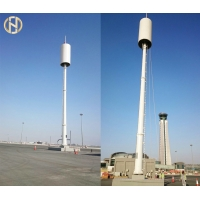 Quality 105 FT Metal Polygon Monopole Communication Tower for sale