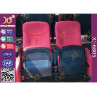 Buy Plastic Outer Frame Metal Frame Theater Hall Seating With Bottle Holder Fixed Legs at wholesale prices