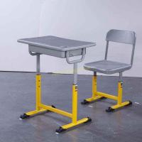 Quality Adjustable Metal Middle School Student Table And Chair With Iron / Aluminum Frame for sale