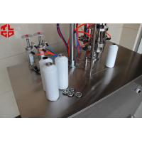 Quality Under Cap Vacuum Semi Automatic Aerosol Filling Equipment Low Failure Rate for sale