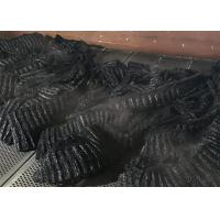 Buy Black Polyamide 100% Nylon Staple Fiber , 3D*65mm Rayon Staple Fiber Dope Dyed at wholesale prices