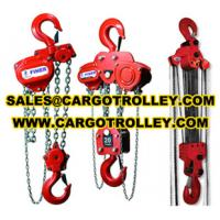 Quality Manual chain hoist applications and pictures for sale