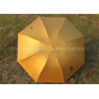 "Quality Solid Color Gold Totes Windproof Folding Umbrella For Ladies 21"" X 8k Size for sale"