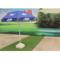 Quality Silver Coated Outdoor Parasol Umbrella , Promotional Garden Umbrella With Digital Printing for sale