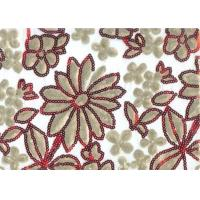 Quality Luxury 100% Polyester Embroidered Home Decor Fabric 100-140gsm for sale