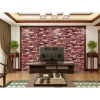 Fireproof Removable 3d Wallpaper For Room Wall Red Vinyl