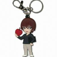 Quality Handsome Boy Shaped Keychain, Measures 6.5 x 3.7 x 0.5cm, Made of Soft PVC for sale