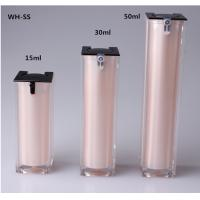 Quality 15ml 30ml 50ml Free Sample Luxury Skin Care Double Wall Square White Slim Cosmetic airless Pump Sprayer for sale