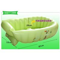 Quality Green Inflatable Swimming Pools PVC , Air Bathtub For Baby Bathing for sale