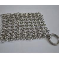 Quality Round Stainless Steel Ring Mesh / Chainmail Scrubber For Cleaning Kitchenware for sale