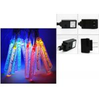 Quality Icicle LED String Lights 220v Multicolor / Warm White Wedding Decorations for sale