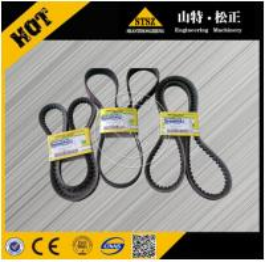 Quality komatsu excavator engine v-belt 04120-21748, pc400-6 fan v-belt for sale