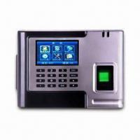 Quality Biometric Time Attendance Access Control System with 2.83 Inches TFT LCD Screen and Built-in Battery for sale