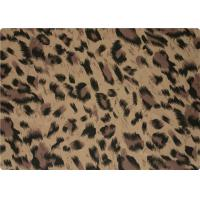 Quality 100% Polyester Stretch Fabric Leopard Print Fabric For Interlining / Lingerie for sale