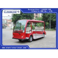 Quality Red Battery Operated Electric Sightseeing Car With 5 Seats Low Noise for sale