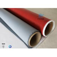 Buy cheap IMO Testing Fireproof 510g Silicone Coated Fiberglass Fabric 1*50m Welding from wholesalers