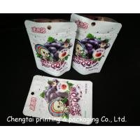 Quality Plastic Snack Food Packaging Bags With Zipper 15.5 * 10.5 + 3.5cm Air Proof for sale