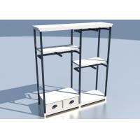 Quality Apparel Store Retail Clothing Racks Custom Made Size Wooden Metal Material for sale