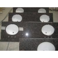 Quality Tanbrown vanity top with ceramic sink for sale