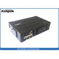 Quality 20W USV Long Range COFDM Wireless Video Transmitter , Wireless Camera Transmission System 720P for sale
