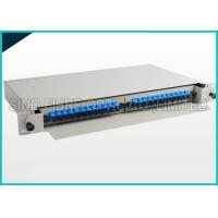 Quality 24 Ports SC APC Loaded Blue Fiber Optic Patch Panel For OPGW Solution for sale
