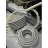 Grey Flexible Corrugated Plastic Tubing , PVC Reinforced Plastic Flexible Hose for sale