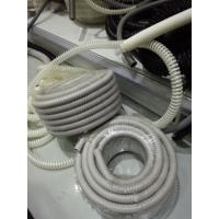 Grey Flexible PVC Reinforced Tube , PVC Reinforced  Tubing For Telcom Cable for sale