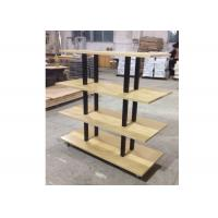 Quality Many Layers Wood Shelf Retail Gondola Shelving , Middle Convenience Store Shelving for sale