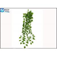 Quality Hanging Green Leaf Artificial Plastic Rattan Ornaments For Home Indoor Decorations for sale