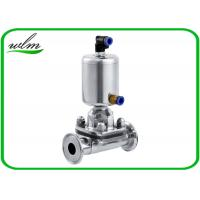 Quality Fast Assembly Sanitary Diaphragm Valve , Straight Through SS Diaphragm Type Valve for sale