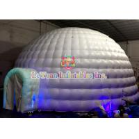 Quality Giant UV Inflatable Dome Tent / CE14960 Air Dome Structures With LED Lightnings for sale