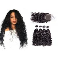 Quality Smooth Brazilian Water Wave Hair Weave / Unprocessed Remy Water Wave Weave for sale