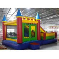 Quality Outdoor Amusement Park 6 x 5 m PVC Tarpaulin Inflatable Bouncy Castle With Slide for sale