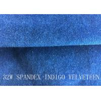 Quality 32W SPANDEX INDIGO VELVETEEN FOR PANTS FOR GARGEMT for sale